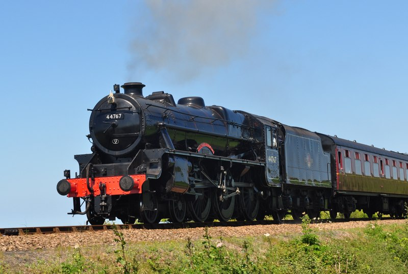 "The Poppy Lines' 44767 ""George Stephenson"" Black 5 Steam Train"