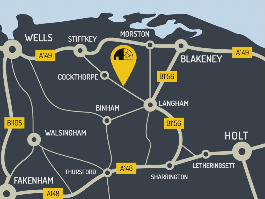 Langham Dome Map