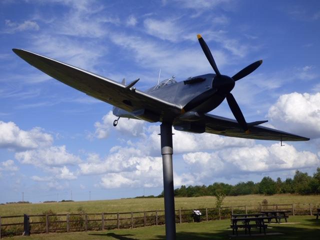 Spitfire on Pedestal